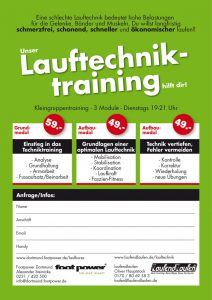 Lauftechnik-Training_Flyer 2016